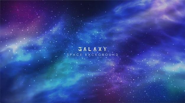Kosmische melkweg gradiënt abstracte ruimte hemel banner achtergrond Premium Vector