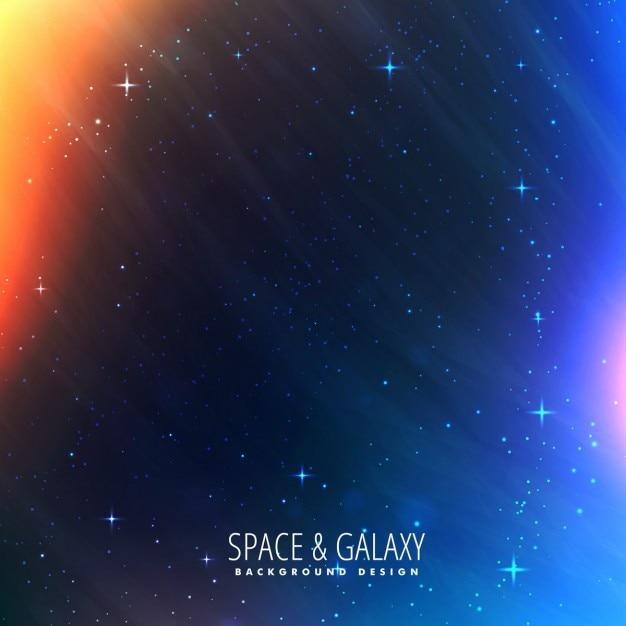Kosmos steekt universe achtergrond Gratis Vector