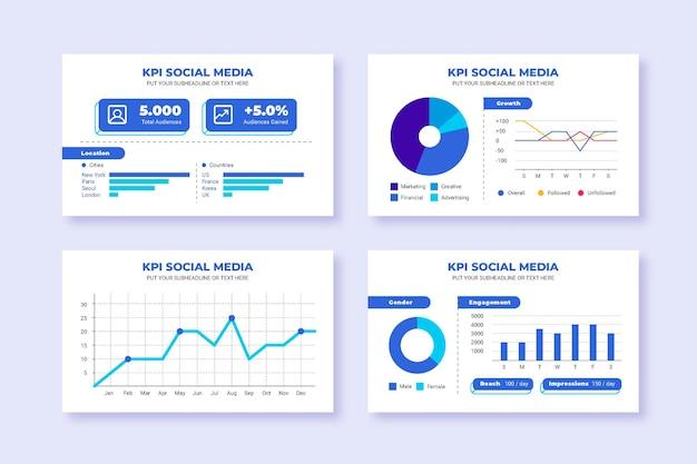 Kpi infographic ontwerp Gratis Vector