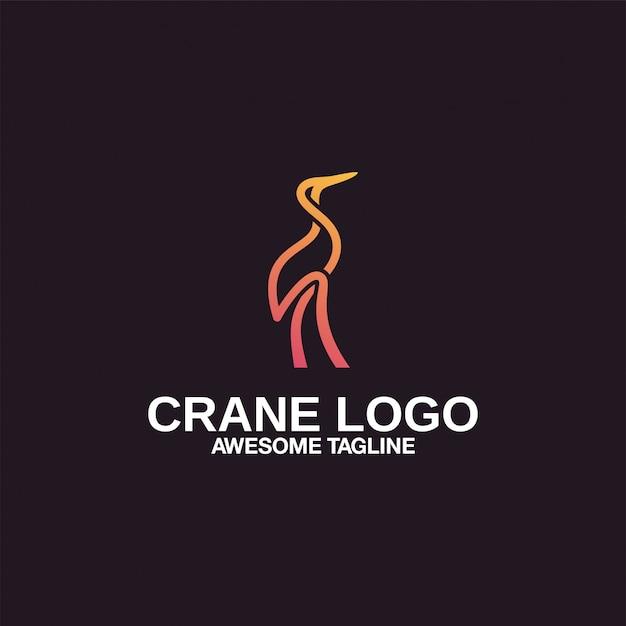 Kraan logo ontwerp inspiratie geweldig Premium Vector