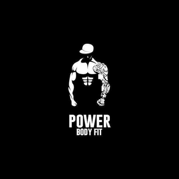 Kracht van body fit logo Premium Vector