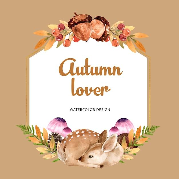Krans met herfst thema Gratis Vector