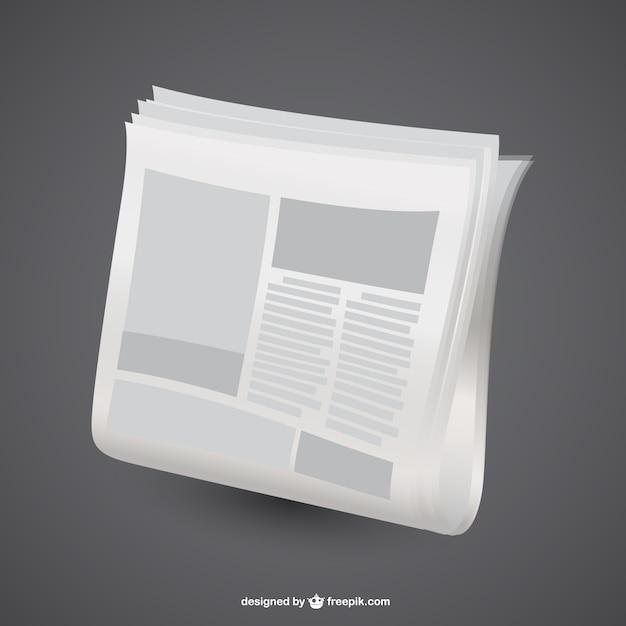 Krant grafische vector design Gratis Vector