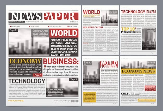 Kranten sjabloon realistische poster Gratis Vector