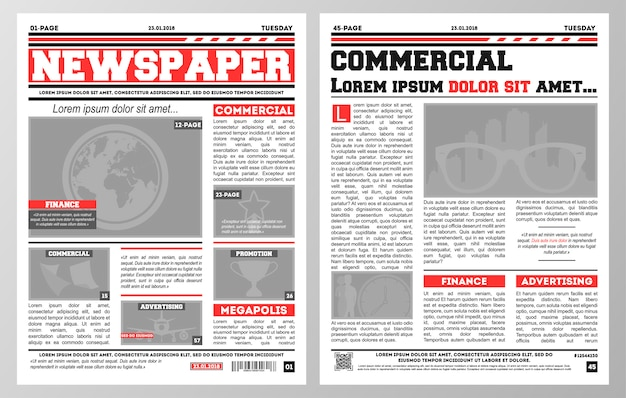 Kranten sjabloon Premium Vector