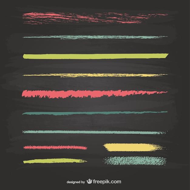 Krijt lijnen textuur vector graphics Premium Vector