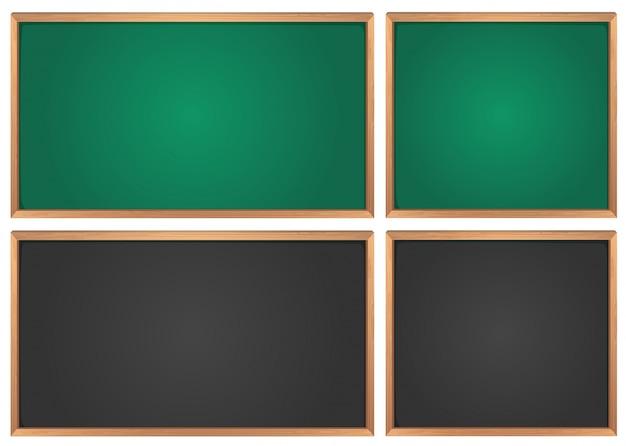 Krijtborden in groen en zwart Gratis Vector