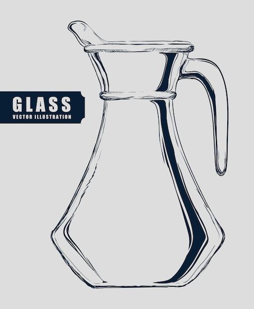 Kristalglas ontwerp Premium Vector
