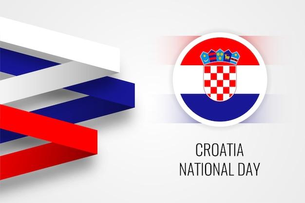 Kroatië nationale dag illustratie sjabloonontwerp Premium Vector