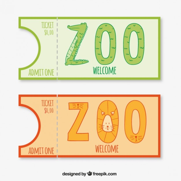 Krokodil en leeuw dierentuin entries Gratis Vector