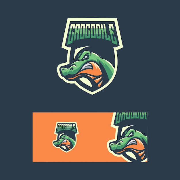 Krokodil sport concept illustratie Premium Vector