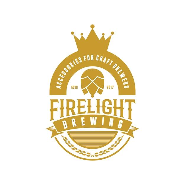 Kroon brouw vintage logo Premium Vector