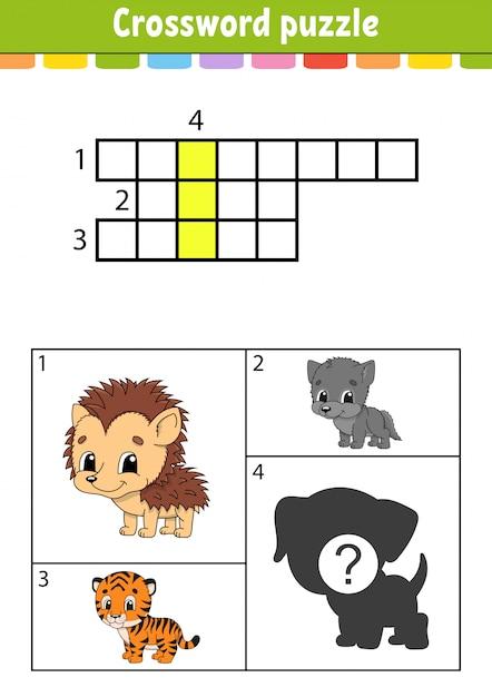 Kruiswoord puzzel. Premium Vector