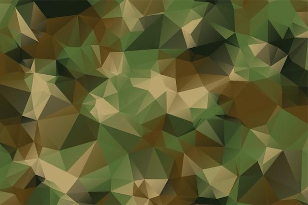 Laag poly stijl camouflage patroon textuur achtergrond Gratis Vector