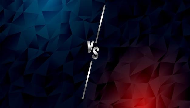 Laag poly stijl versus versus banner Gratis Vector