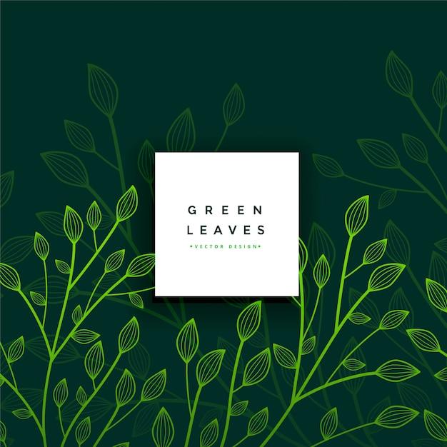 Laat gebladerte groene kaart Gratis Vector