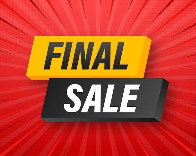 Laatste uitverkoop . banner verkoop-tag. speciale aanbieding-symbool. winkel markt poster. . illustratie Premium Vector