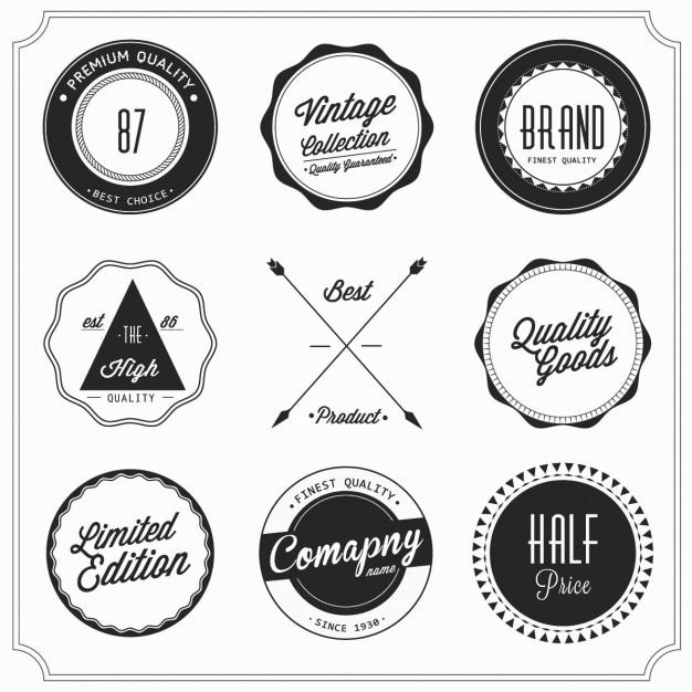 Labels Gratis Vector