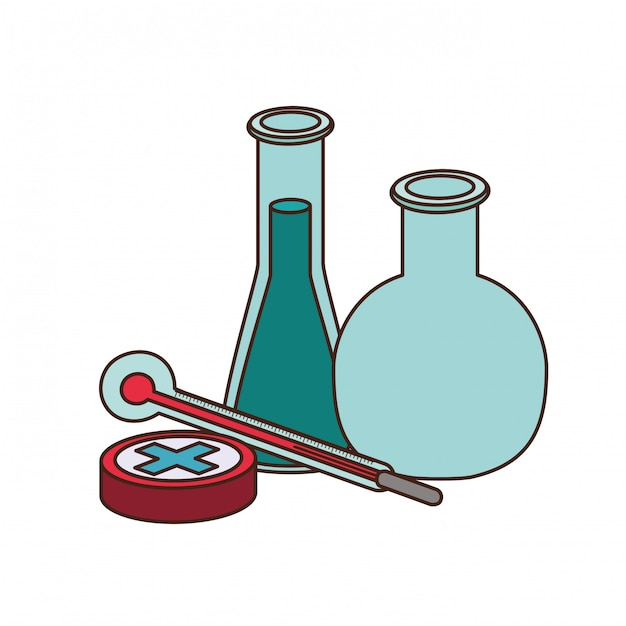 Laboratoriuminstrumenten Premium Vector