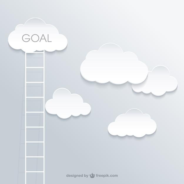 Ladder naar het succes concept Gratis Vector
