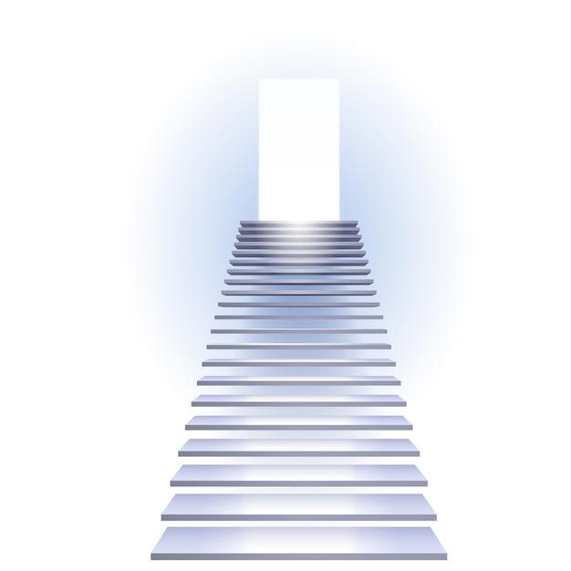 Ladder naar succes Premium Vector