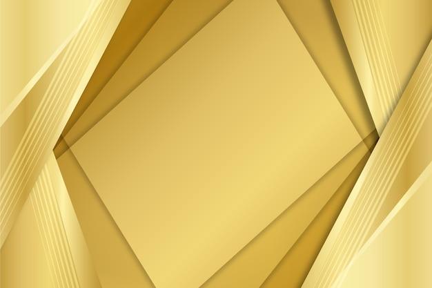 Lagen van vierkanten gouden luxe vormen achtergrond Gratis Vector