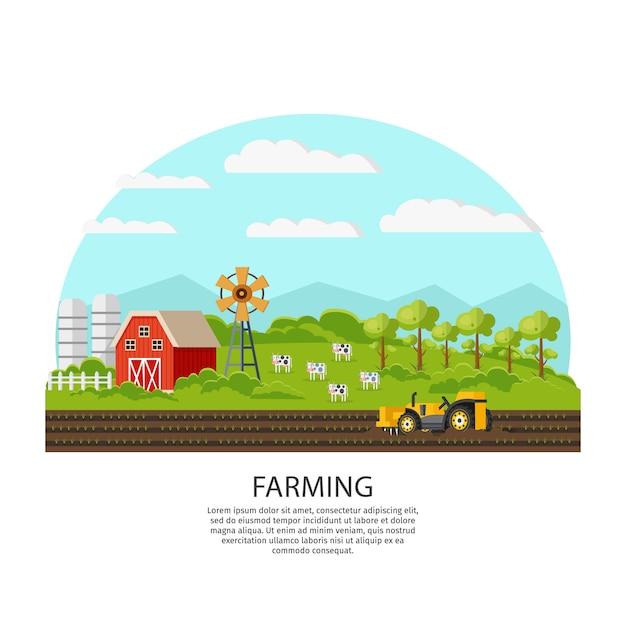 Landbouw en landbouwconcept Gratis Vector