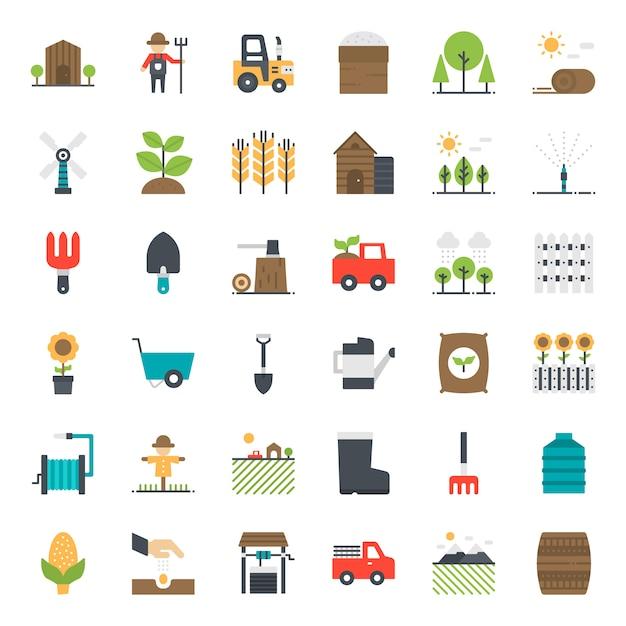 Landbouw pictogram Premium Vector