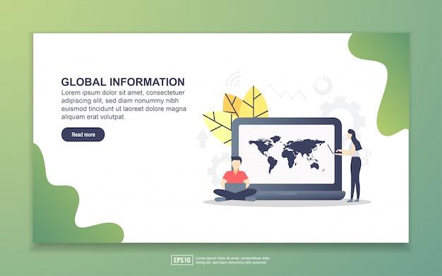 Landingspagina sjabloon met globale informatie Premium Vector