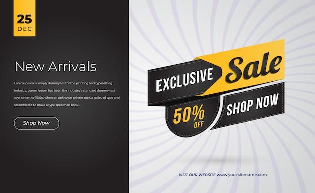 Landingspagina sjabloon speciale aanbieding verkoop Premium Vector
