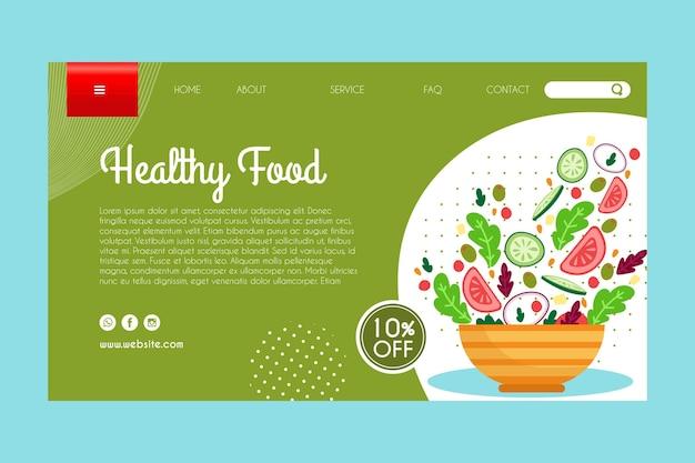 Landingspagina sjabloon voor gezond voedsel Gratis Vector