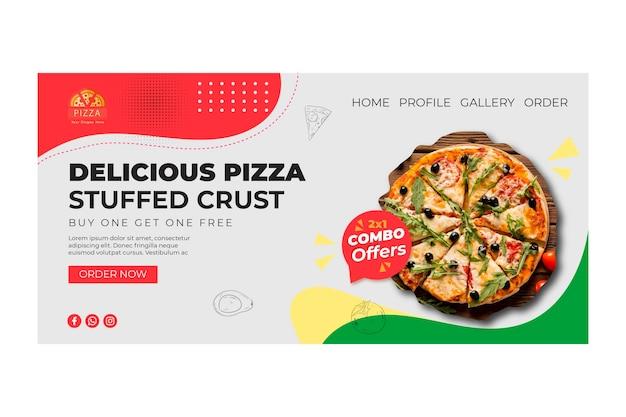 Landingspagina sjabloon voor pizzarestaurant Gratis Vector