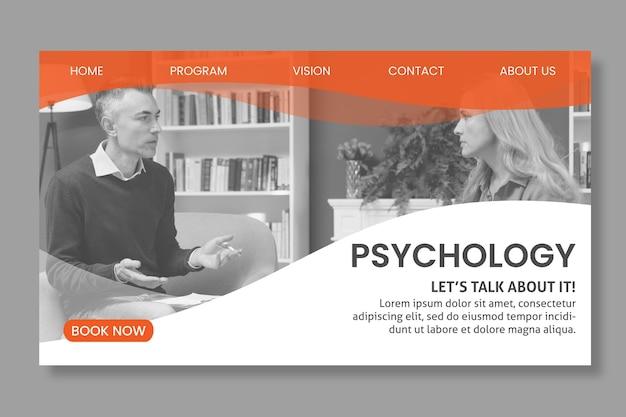 Landingspagina sjabloon voor psychologie Gratis Vector