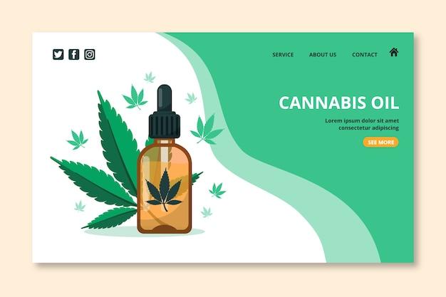 Landingspagina voor cannabisolie Gratis Vector