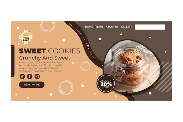 Landingspagina voor cookies Gratis Vector