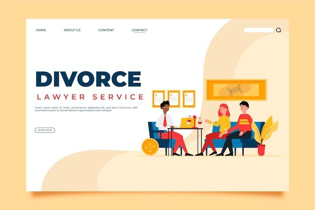 Landingspagina voor echtscheidingsadvocaten Gratis Vector