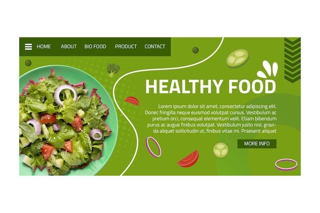 Landingspagina voor gezonde voeding Gratis Vector