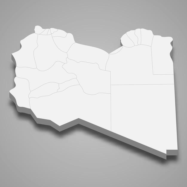 Landkaart met grenzen van regio's Premium Vector