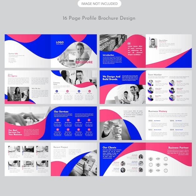 Landscape brochure design Premium Vector