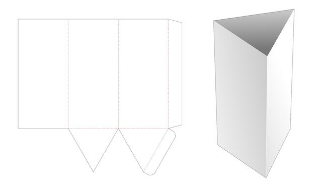 Lange driehoekige kom gestanst sjabloon Premium Vector