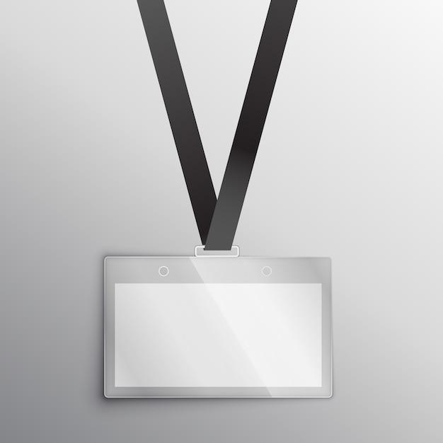 Lanyard met kenteken toegangskaart ontwerp mockup Gratis Vector