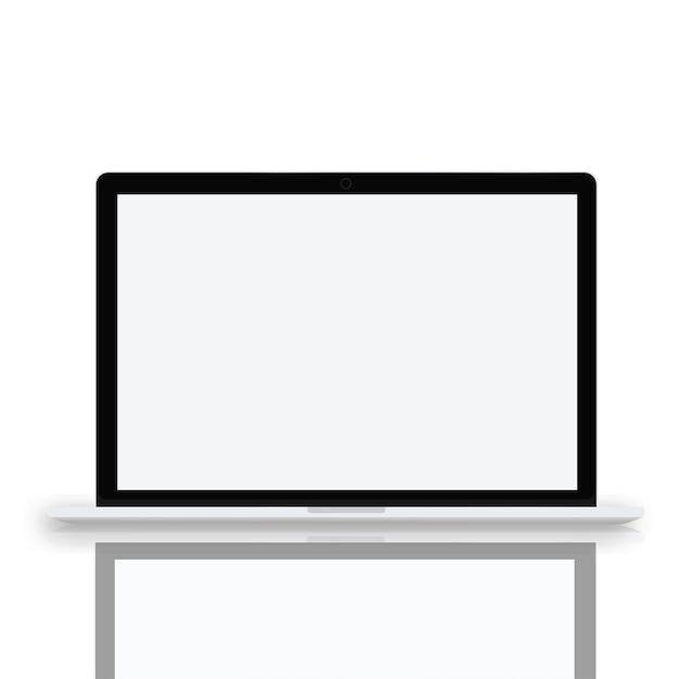 Laptop computer draadloze technologie ui pictogram vectorconcept Gratis Vector