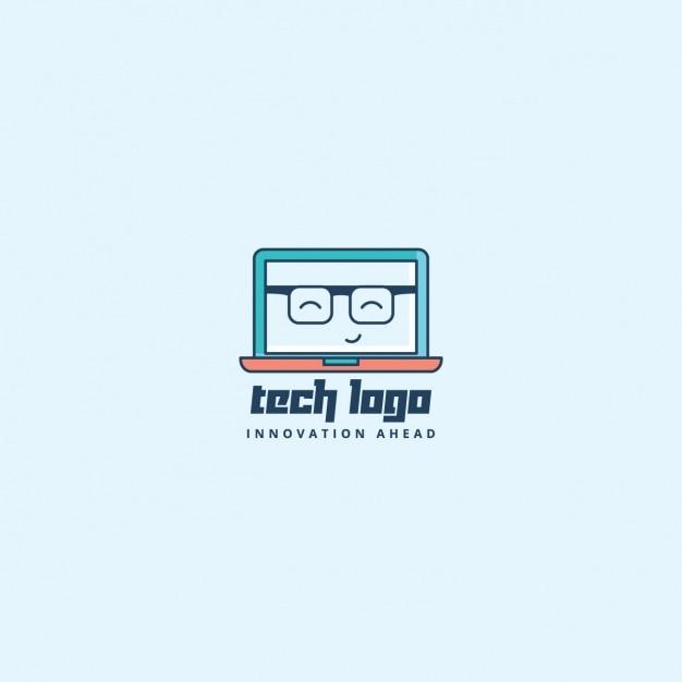 Laptop computer logo Gratis Vector