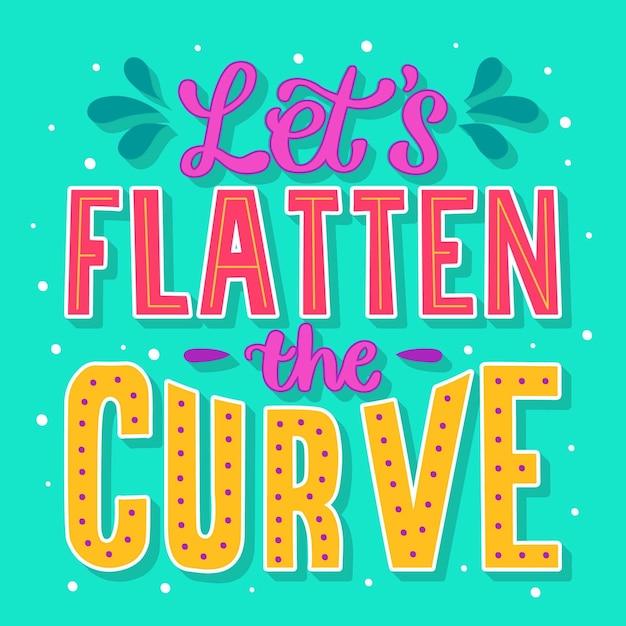 Laten we de curve-quote afvlakken Gratis Vector