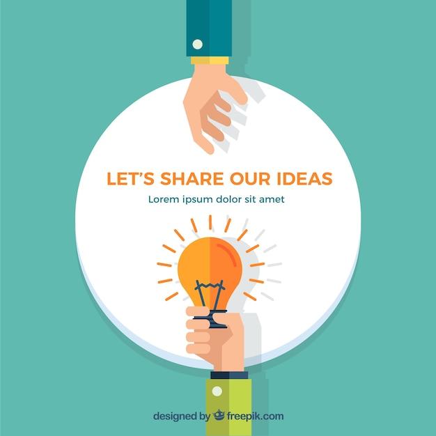 Laten we delen onze ideeën Gratis Vector