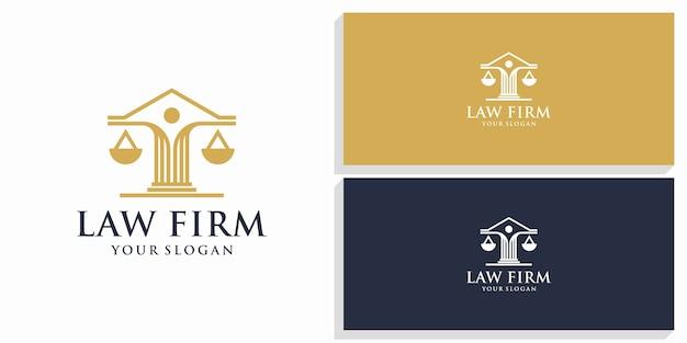 Law & firm design logo Premium Vector