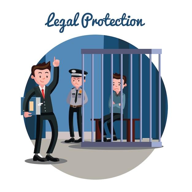 Law gerechtelijk systeem Gratis Vector