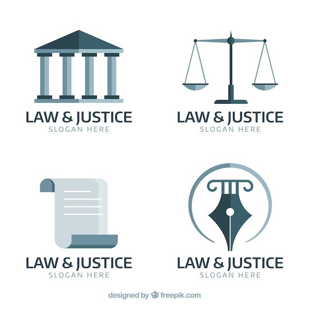 Law logotype ingesteld Gratis Vector