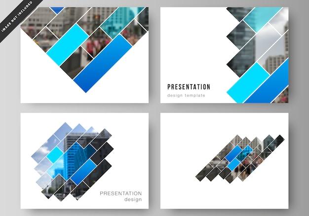 Lay-out van de presentatiedia's Premium Vector