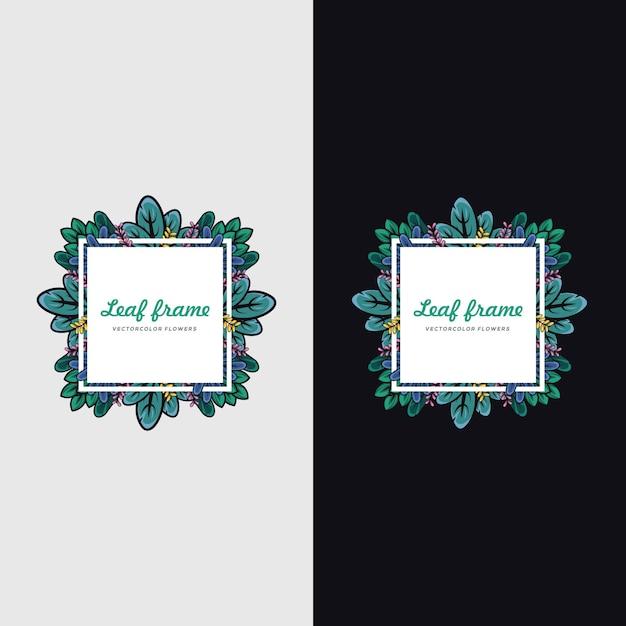 Leaf frame illustraties Premium Vector